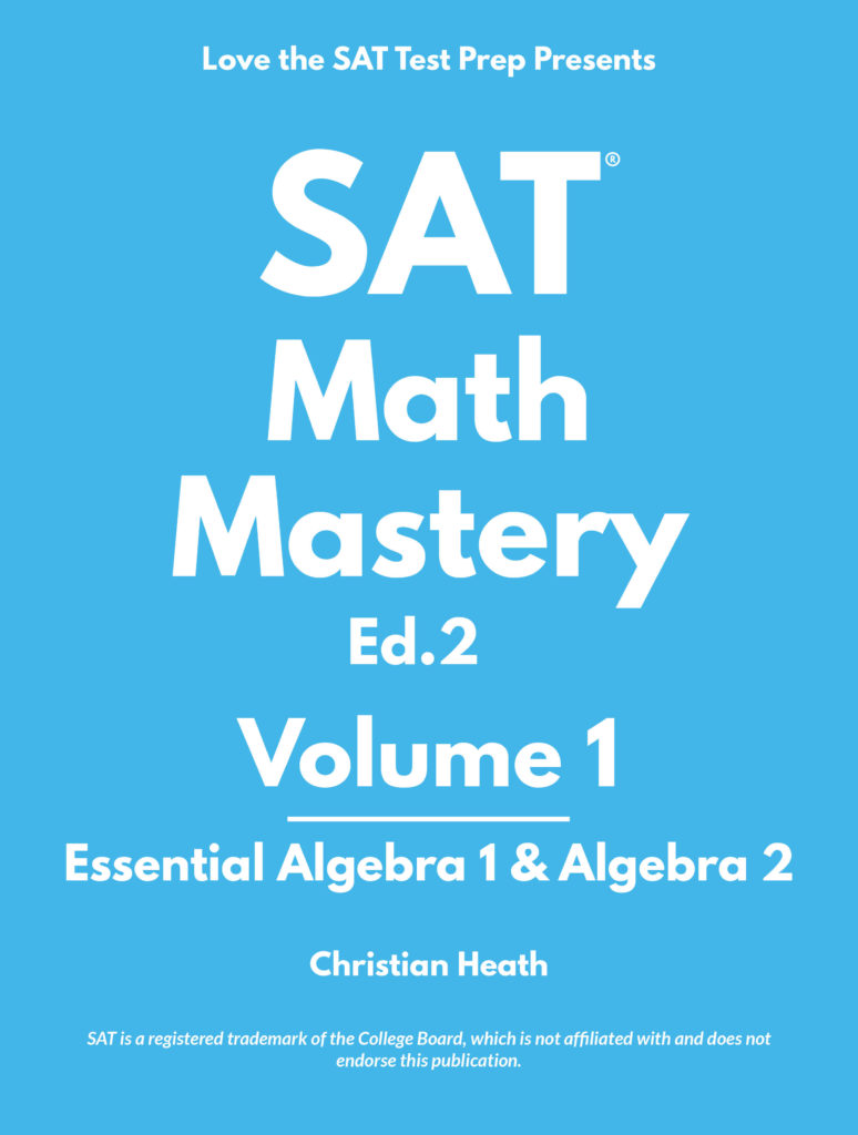 SAT Math Mastery Volume 1 Textbook Cover